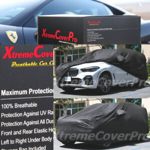 BREATHABLE CAR COVER W/MIRROR POCKET BLACK FOR 2021 HYUNDAI PALISADE