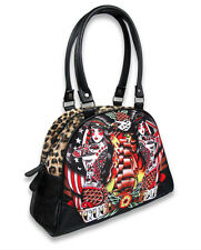 Liquor Brand Siren Sea Womens Punk Goth Rock Bowling Bag Handbag Purse B-OBW-021