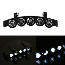 Clip 5 LED tapa cabezal  luz lámpara Linterna antorcha Pesca campamento de caza