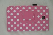Polka Dot Case Folding Folio with Stand For Kindle Fire/Tablets Pink
