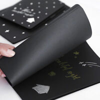 56K Black Paper Sketch Book Graffiti Notebook Diary For Painting Notepad Drawing