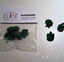 6 Elite Greenhouse Plastic Hooks - Cropped Heads. Easily secured into the roof