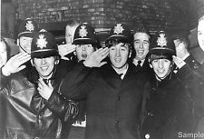 The Beatles Birmingham Hippodrome Police Black & White Photo Print Picture A4