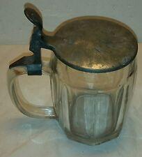 Bierkrug ArtDeco, Pressglas Krug, SG Radeberg Glas, alter Glaskrug, Glas, S.G.