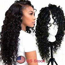 Lace Front Wigs Black Curly Loose Long Heat Resistant Synthetic Full Hair Women