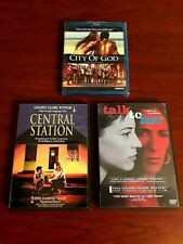 City of God (New Blu-Ray) + Central Station & Talk to Her (Like New Dvds)