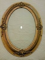 Antique Victorian gilded, beaded frame with convex bubble glass 25x19