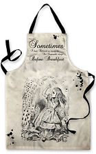 ALICE IN WONDERLAND QUOTE 2 DESIGN APRON KITCHEN BBQ COOKING PAINTING GREAT GIFT