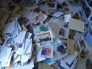 5 LB  US FOREIGN CANCELLED STAMPS DAMAGED STUCK LAZY POSTMAN COMMON COMMEMORATIV