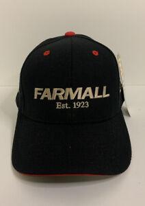 Vintage Farmall Case I/H Black Red & Wht Iowa State Fair Adj Farm Hat/Cap NWT