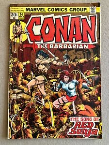 Conan # 24 1st Cover Appearance Red Sonja Original Owner Collection