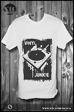 MENS TSHIRT NEW DESIGN RETRO VINYL JUNKIE RECORD UNIT FASHION SIZE S M L XL XXL
