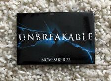 Unbreakable Movie Theater Promo Button Pin 2000 Bruce Willis Samuel L. Jackson