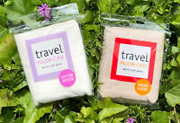 """Set Of 2 TRAVEL PILLOW CASES, 1 Micro Suede, 1 Sateen, New, 15"""" X 20"""" Each"""