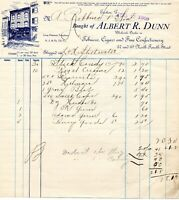 August 17, 1908 Albert R Dunn Tobacco Cigars and Fine Confection paper invoice
