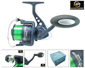 SEA FISHING REEL CARP PIKE SPINNING  REEL HUNTER PRO® 60S WITH 15LB LINE NEW!