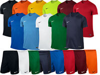 Nike Park Boys Junior Kids Dri Fit Crew Training Gym Football T Shirt Top Shorts