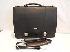 TOSHIBA BLACK FAUX LEATHER LAP TOP/PC NOTEBOOK BRIEF CASE : techa(i)r PROTECTION