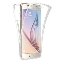 Funda silicona transparente delantera Tactil y trasera Samsung Galaxy J7 2016