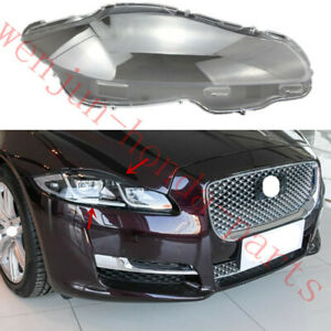 Right Side Transparent Headlight Cover + Glue Replace For Jaguar XJ 2010-2019AA