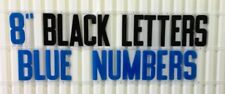 8 Inch Flexible Plastic Outdoor Marquee Sign Letters 300 Count Black Blue Color