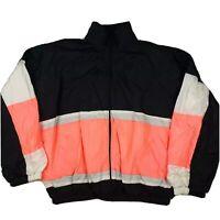 Vintage Men's 90's Colorful Windbreaker Ski Jacket Nylon Size Large MADE IN USA