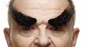 Quality Black Bushy Eyebrows 3M Self Adhesive Facial Hair Mens