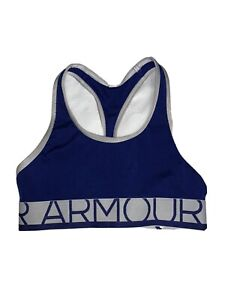 Under Armour Girls Sports Bra Blue Size Youth Small B37