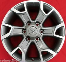 TOYOTA HILUX FORTUNER ALLOY WHEELS JULY 15> SET OF 4 GENUINE ACCESSORY GREY
