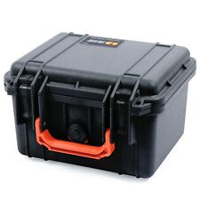 Black & Orange Pelican 1300 case with foam.