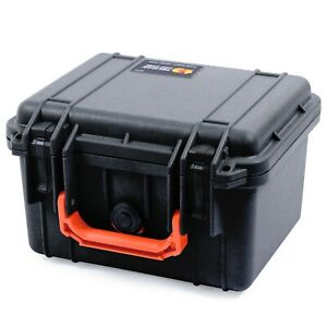Black & Orange Pelican 1300 case with foam.