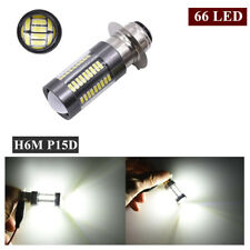 New 1x 66LED H6M P15D Light Bulb For Motorcycle Headlight 6-Side White DRL Lamp