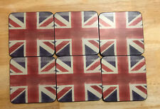 New listing Pimpernel British Flag * Union Jack Flag Coasters (6)