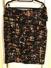 BNWT LULAROE CASSIE 2XL, BLACK WITH FLORAL, PUPRLE, RED, GREEN, STUNNING!