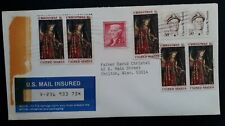 c.1968 United States Mail Insured Cover ties 8 stamps to Chilton Wisconsin