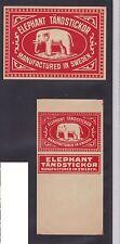 Anciennes étiquettes allumette Suède  BN20748 Eléphant