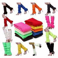 Women Knitted Leg Warmers Winter Stocking Knee High Legging Boot Angle Socks