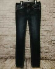 Women's GUESS Jeans Flirty Skinny Stretch Dark Wash Pants Sequin Size 25 x 31