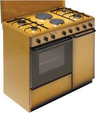 Cucina a Gas 4 Fuochi 2 Piastre Bompani Forno Elettrico Grill 90x60 cm BI941EB/L