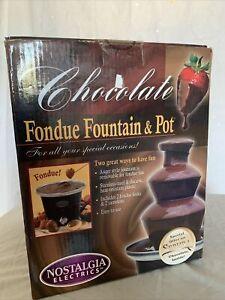 Nostalgia Electrics Stainless Steel Chocolate FONDUE FOUNTAIN & Pot - NEW
