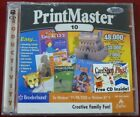 Software PC PrintMaster 10 Print Master 2 cd 7000 images NEW SEALED