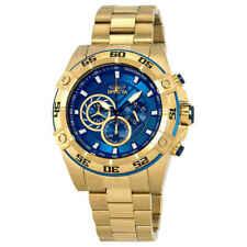 Invicta Men's Speedway Quartz Gold Stainless Steel Strap Blue Dial Watch 25536