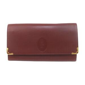 Cartier Clutch Bag  Bordeaux Leather 2305873