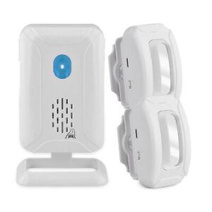 Motion Sensor Doorbell Wireless Driveway Alert Home Alarm w/ 2 Sensor+1 Receiver