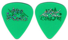 ALICE IN CHAINS Guitar Pick : 2009 Mike Starr signature picks custom green