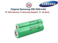2x Authentic SAMSUNG 25R 18650 INR 20A 2500mAh Flat Top Battery For Vape Mods