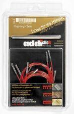 Addi haga clic en los cables y conector para agujas de tejer de intercambiables de encaje