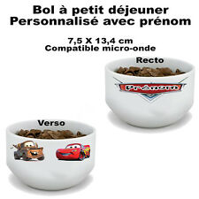 Bol à petit déjeuner Cars disney V2 personnalisé avec prénom (mug, tasse)