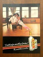 1984 Gordon's Gin Vintage Print Ad/Poster 80s Pop Art Bar Decor