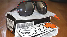 New Spy Bodega Sunglasses Black/Red/Grey/Silver Mirror Gradient Lens 67008797140
